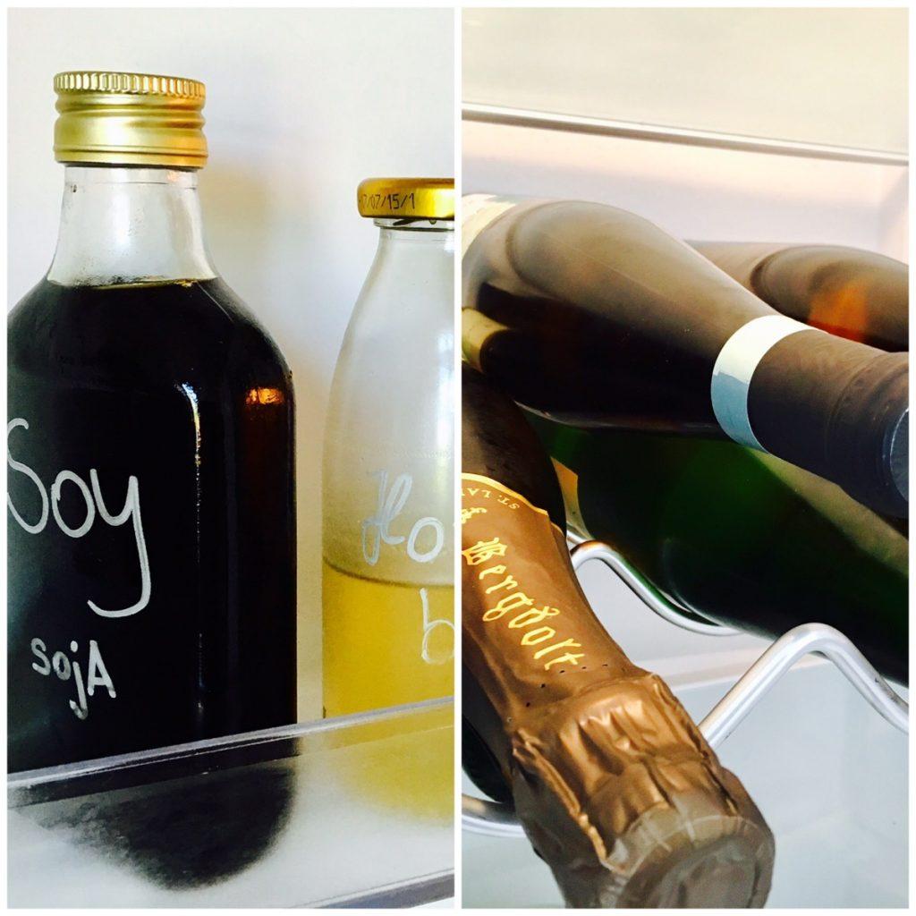 Flaschen im Kühlschrank