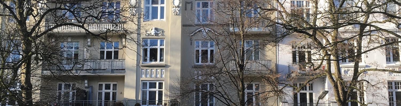 Häuserzeile Andreasstraße in Hamburg Winterhude