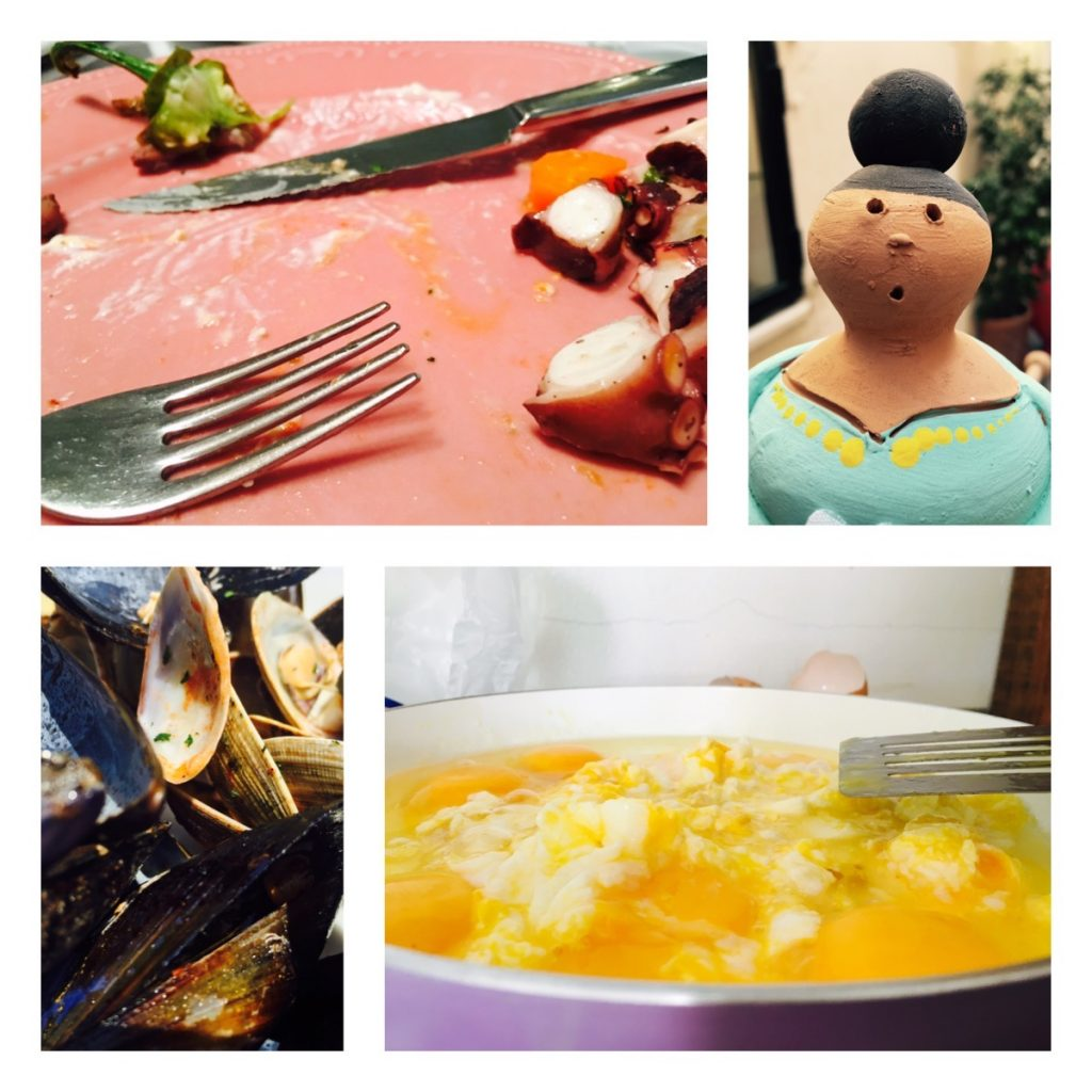 Eier zum Frühstück und Pulpo für Alle